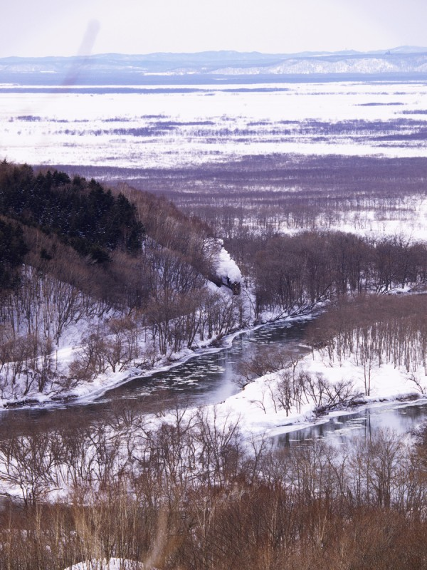 新夢が丘を往く ~ SL重連湿原号 2010 _001