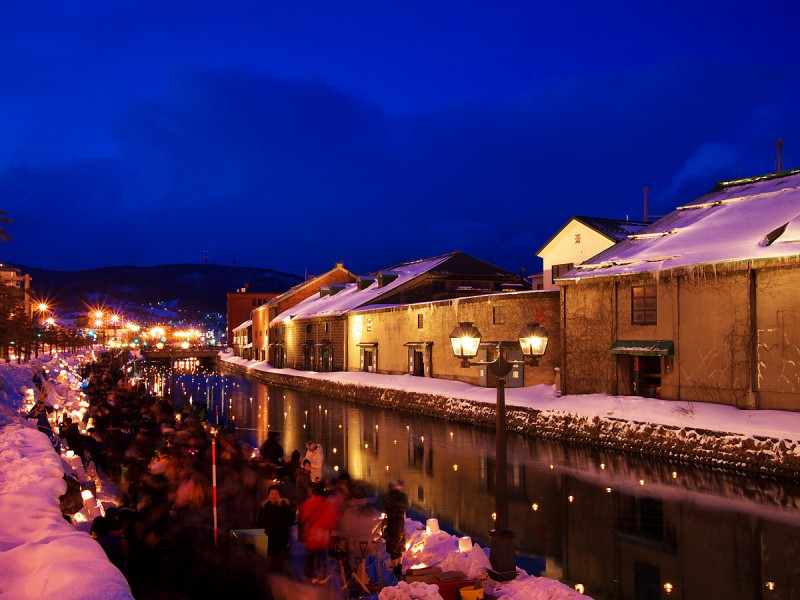 Blue moment in OTARU Canal @小樽雪あかりの路 2010