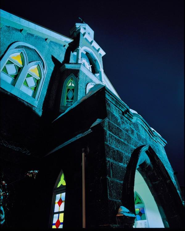 富岡カトリック教会の雪あかり 2010 ②