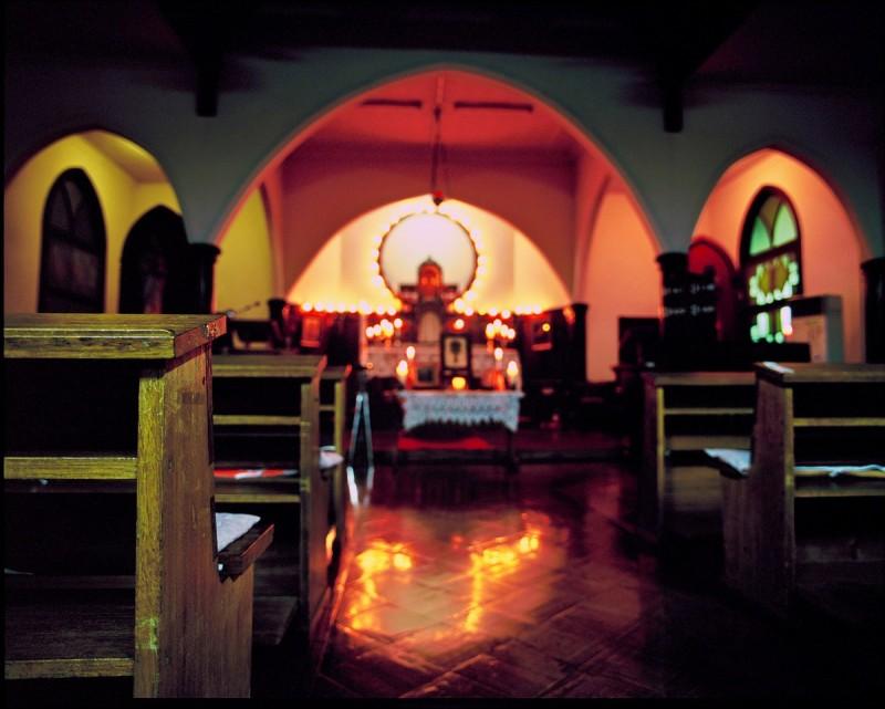 富岡カトリック教会の雪あかり 2010 ④